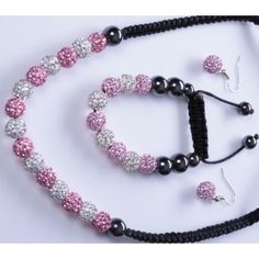 LIMITED OFFER !!! SO HURRY !!!! Shamballa #Necklace, #Bracelet And #Earrings Set in Just Price: £29.86 @ http://www.completethelookz.co.uk/Swarovski-Crystal/necklaces