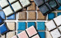 19 revestimentos ecológicos - Casa -  pastilhas Suprema Rec 65 onde o nome dá a dica  65% vem da reciclagem de resíduos - by Atlas