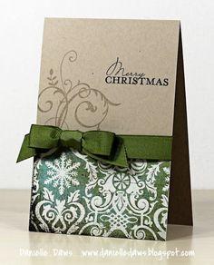 Simple Christmas Card - more Christmas cards on same blog post