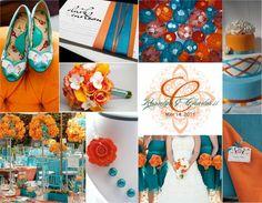 Wedding Wednesday: Burnt Orange Color Palette Request