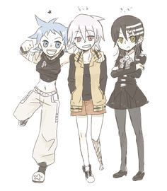 Black star, death the kid, and soul gender bender (ok, that's kind of awesome)