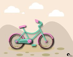 """Check out new work on my @Behance portfolio: """"Cute Vector Bicycle"""" http://on.be.net/1NXxlGg"""