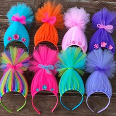 Trolls inspired Hair Headband Headband Poppy Troll Headband Wig Pink Tulle Headband rainbow Troll Hair Troll Costume Troll Wig - Home Page Troll Wigs (bundle of Trolls party favors Troll wig headbands Troll headbands Troll hair troll costumes troll wig va Headband Wigs, Tulle Headband, Tulle Bows, Pink Tulle, Headband Crafts, Ribbon Headbands, Kids Crafts, Diy And Crafts, Tulle Crafts