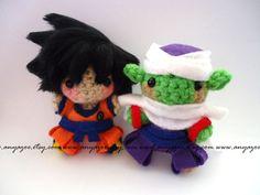 Goku and Piccolo Amigurumi by AnyaZoe.deviantart.com on @deviantART