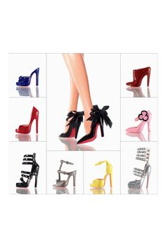 OMG!!!! Christian Louboutin Barbie shoe collection