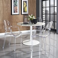 Amazon.com   LexMod Philippe Starck Style Louis Ghost Chair In Clear {with  Arms