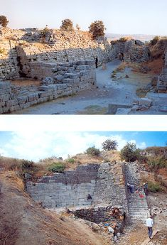 Troy VI Fortification 1. South- East Gate 2.North- East Bastion