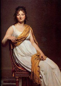 David, Jacque Louis (1748-1825) - 1798 Madame Raymond de Verninac (Musee du Louvre, Paris)      Oil on canvas; 145 x 112 cm.