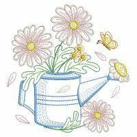 Vintage Flowering Watering Can Baby Embroidery, Simple Embroidery, Paper Embroidery, Custom Embroidery, Cross Stitch Embroidery, Embroidery Stitches Tutorial, Machine Embroidery Designs, Embroidery Patterns, Drawing Tutorials For Beginners