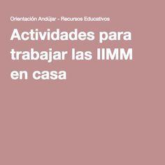 Actividades para trabajar las IIMM (inteligencias Múltiples) en casa