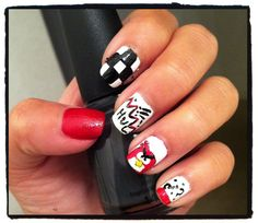 My Angry birds nails!