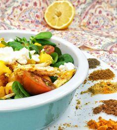 Ensalada de garbanzos pollo y mango