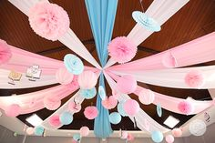 Hailey's Dainty Little Bakeshop Themed Party – Ceiling Details