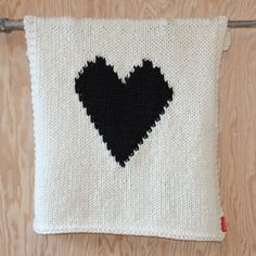 Knitted Heart Baby or Lap/Throw Blanket, via Etsy.