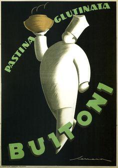 Art Print: Tuscany, Italy - Buitoni Pasta Promotional Poster by Lantern Press : Vintage Italian Posters, Pub Vintage, Vintage Food, French Posters, Retro Poster, Poster Poster, Art Deco, Illustrations, Artist Canvas