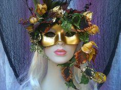 Land Nymph Masquerade Mask by RomanticDesires Masquerade Dresses, Masquerade Ball, Venetian Wedding, Greek Mythology, Nymph, Mardi Gras, Halloween Face Makeup, Creative, Beauty