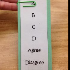 A fun way to get kids to participate in classroom discussions and to check their understanding.