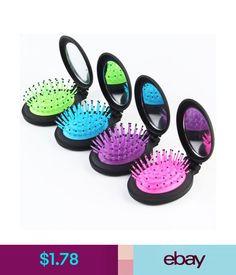 Brushes & Combs 1Pcs Girls Portable Mini Mirror Folding Comb Airbag Massage Round Hair Brush #ebay #Fashion