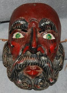 Vintage Old Mexican Mask Roldon character Moors & Christians