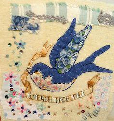 Hand stitched by Emily henson. Swallow. Cherish each day. #bibliboo
