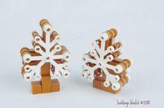 for the lego gingerbread village album. Lego Tree, Gingerbread Village, Lego Christmas, Place Cards, Place Card Holders, Album, Holiday, Winter, Winter Time