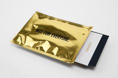 Gold foil envelope and print by Face for Mexican luxury property development Highpark