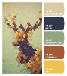 """Color Palette.  Change the navy to dusty blue and that """"yellow"""" to a deeper metallic gold and I would like this palette."""