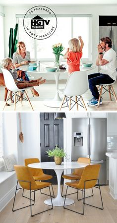 Update your decor for spring with the Lippa table, as featured in HGTV Magazine, or other modern furniture pieces!
