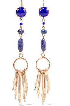 Isabel Marant | Jacques gold-tone multi-stone earrings | NET-A-PORTER.COM