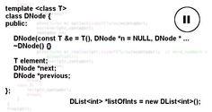 Lista duplamente ligada com classes template (Parte II) - Out4Mind