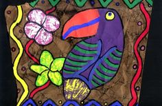 complete lesson plan- Amate Bark painting I do this w/ b/c I like … - Kunstunterricht 7th Grade Art, Fourth Grade, Hispanic Art, Latino Art, Cultural Crafts, Sensory Art, Classroom Art Projects, Art Curriculum, Art Programs