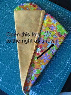 Vicki's Fabric Creations: Folded Fabric Scissor Holder-Rounded Top Version (step 5)