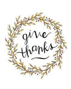 """impresión 8 x 10 """"dar gracias"""" / / impresión de caída / / impresión de acción de gracias de blossomandink en Etsy https://www.etsy.com/es/listing/481018857/impresion-8-x-10-dar-gracias-impresion"""