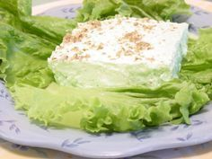 this delicious lemon lime jello salad is made with cottage cheese
