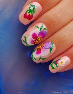 One-Stroke Flowers, via Flickr.