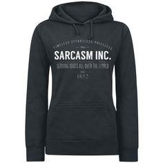 Sarcasm Inc. Kapuzenpullover, Frauen schwarz • EMP