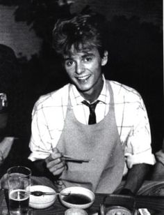 Paul Waaktaar, guitarist and main songwriter of the A-Ha. Kind of adorable.