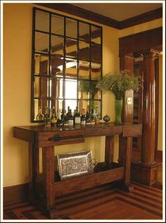 love a craftsman style house - the mirror is good i think.