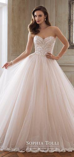 Pink ballgown - Sophia Tolli Wedding Dress Spring 2018 #weddingdresses #weddinggowns #bridaldress #bride #bridal #bridalgown #brides #weddings
