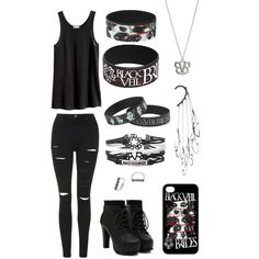 BVB Concert by meeshalou on Polyvore featuring polyvore, fashion, style, H&M, Topshop, Maria Black and Anni Jürgenson