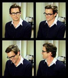 Matt Bomer looking beautifully wearing glasses, as he does.
