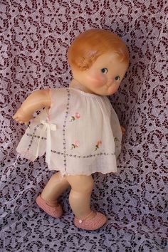 "13"" Vintage Campbell's Soup Petite Composition Girl Doll Sweet Clothes  