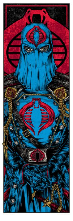 More awesome GI Joe art. Cobra Commander actually doesn't come off as a pussy for once.
