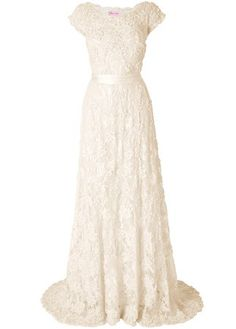 This is nice for a wedding dress :) I'm gonna wear my grandma;s wedding dress though Modest Wedding Gowns, Modest Dresses, Wedding Attire, Bridal Gowns, Older Bride Dresses, Perfect Wedding, Dream Wedding, Lace Wedding, Yes To The Dress