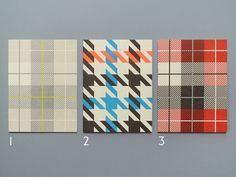 Letterpress Tartan Cards from Present and Correct £3.25. Yeah I just copied and pasted that British Pound sign.