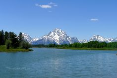 My husband and I got married in Grand Teton National Park in June of 2014. I love this beautiful place dearly. It's like nowhere else I've ever been! This is Schwabacher's Landing. What an inspiring view. For more, click the picture! :)