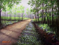 Jerry Yarnell. Trail through the woods