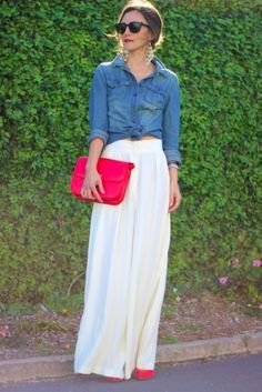 Maxin' Out with Chambray: Maxi + Chambray