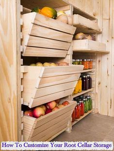 How To Customize Your Root Cellar Storage