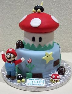 It's Me Mario! By SpeciaLKay14 on CakeCentral.com